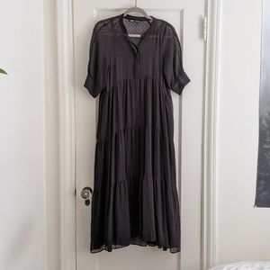 Zara maxi dress in plumetis
